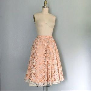 NWT Robin Jordan lace full skirt
